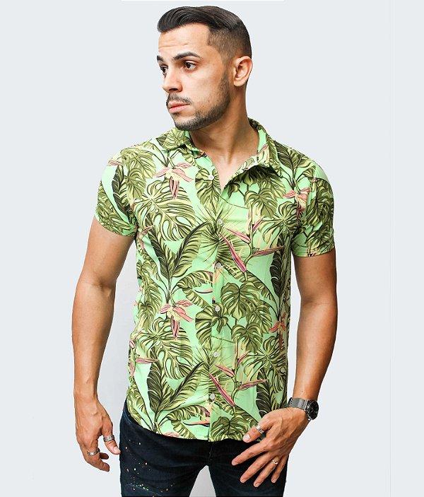 Camisa Brothers Floral Verde