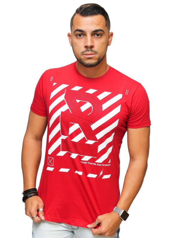 Camiseta Brothers Red Caution