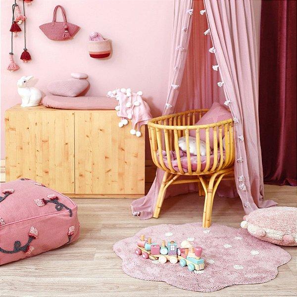 Tapete Infantil 90 X 90 Lorena Canals Mini Biscuit Vintage Rosa