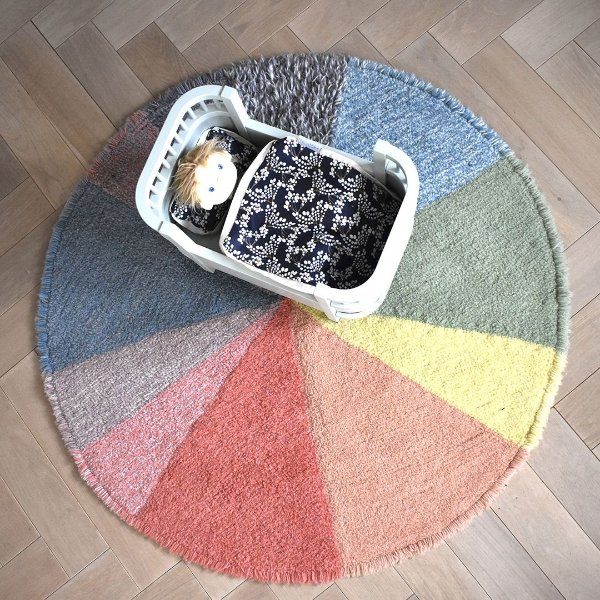 Tapete Infantil 120 X 120 Lorena Canals Woolable Rug Pie Chart