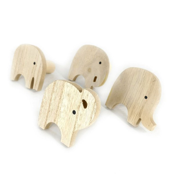 GANCHO PAREDE INFANTIL ELEPHANT MDF 4PÇS DPD01245