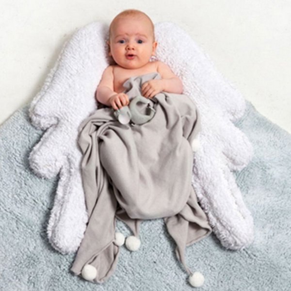 TAPETE INFANTIL 120 x 160M LORENA CANALS PUFFY WINGS ANGEL