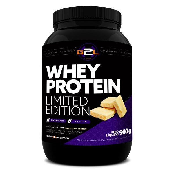 WHEY PROTEIN LIMITED EDITION G2L 900G SABOR:CHOCOLATE BRANCO