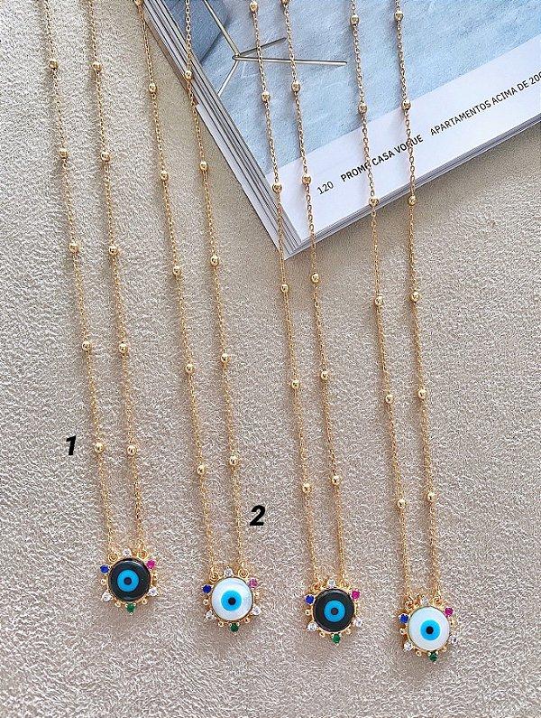 Colares Olhinhos Zircônias Coloridas (CLIQUE E COMPRE SEPARADAMENTE)