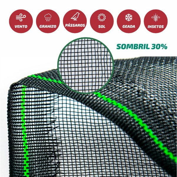 Tela Monofilamento Sombril 30% 3x50M