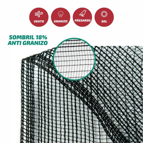 Tela Monofilamento Sombril AntiGranizo 18% 3x100M