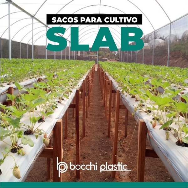 SACO PARA CULTIVO SLAB PRETO/BRANCO 39x400 - 31 KG 200 MICRAS 400 MTS