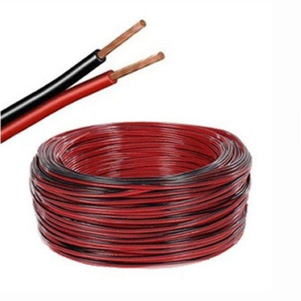 Fio Bicolor Para Som 2X12 Bobina com 100 metros - 2,5 mm