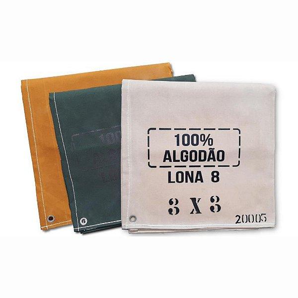 Lona Encerada para cargas 11x7M 100% Algodão com Ilhós