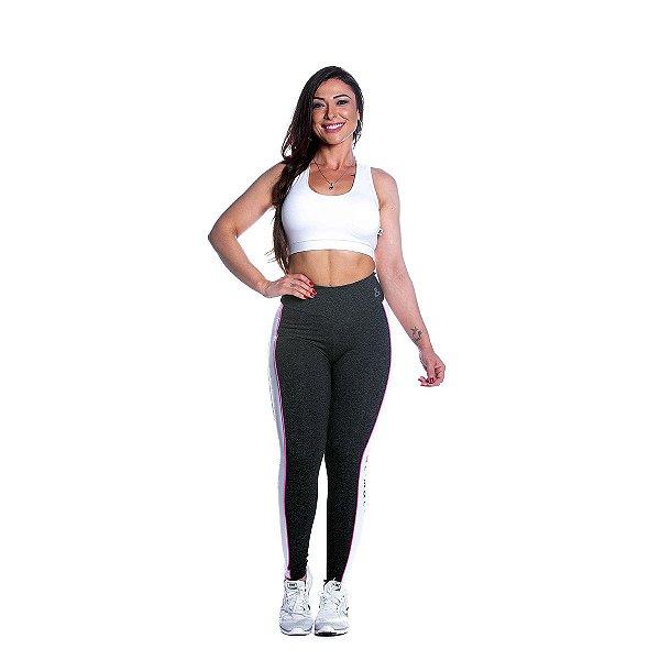 Conjunto Top e Legging Atitude Preta Movimento e Cia