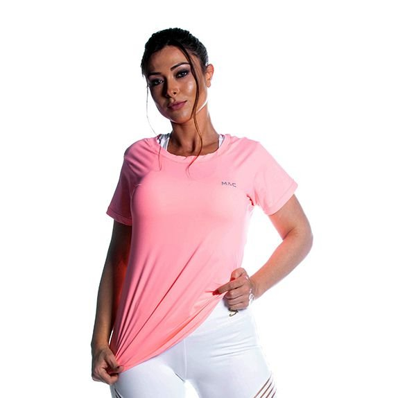 Camiseta Dry Laranja Claro Movimento e Cia