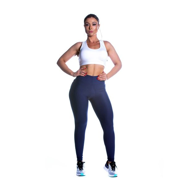 Conjunto Top e Legging Power Azul Movimento e Cia