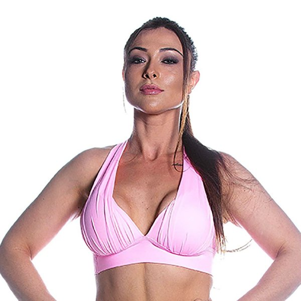 Top Alças Cruzadas Rosa Iogurte Movimento e Cia