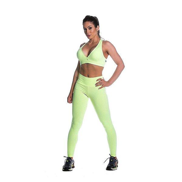 Conjunto Top e Legging Supplex Básico Limão Movimento e Cia