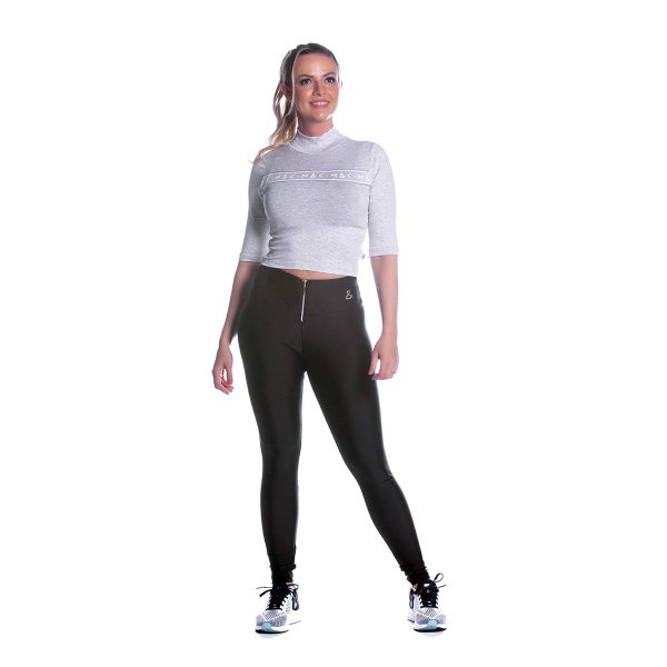 Conjunto Blusa e Legging Visco Branca Movimento e Cia