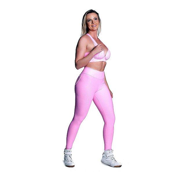 Conjunto Top e Legging Power Rosa Iogurte Movimento e Cia