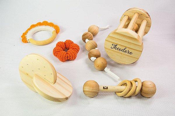 Kit Montessori para bebês - 6 pçs - com nome do bebê