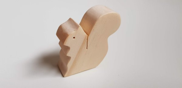 Esquilo de madeira - Animais de madeira