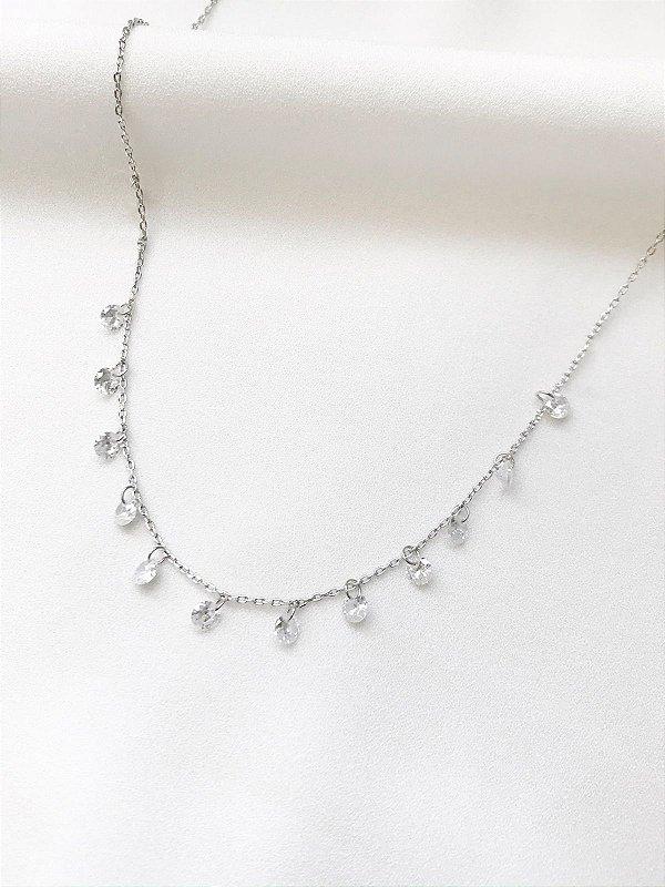 Colar Princesa prata com cristais