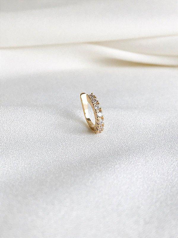 Piercing Fake Serena dourado clássico folheado a ouro 18K
