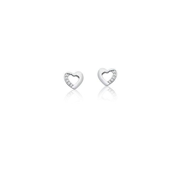 Brinco Love cravejado em prata 925