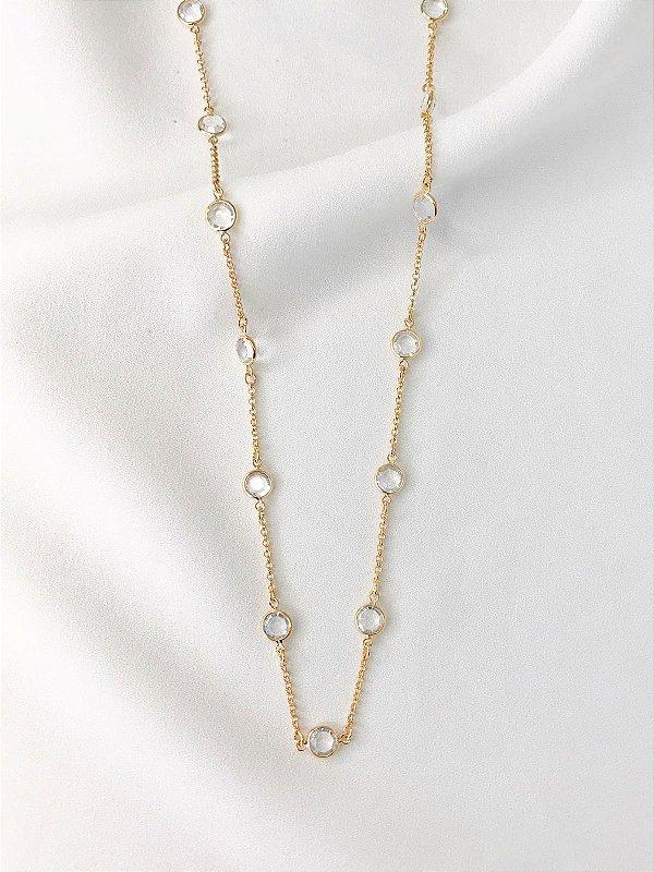 Colar Diamond inspired tiffany banhado a ouro