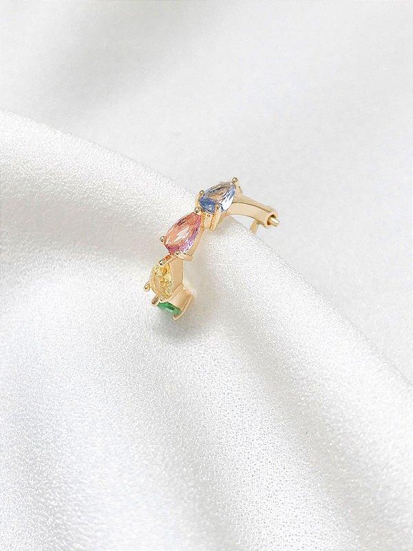 Piercing Fake Joana com trava banhado a ouro