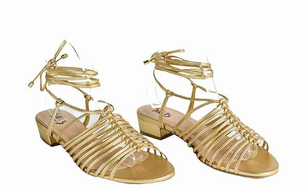 Sandália Fios - Ouro
