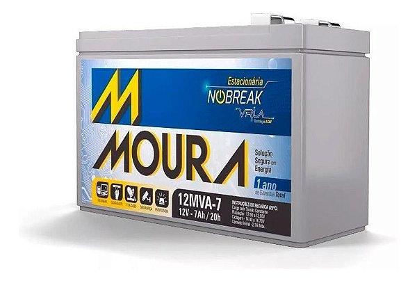 Bateria selada 12v 7amp VRLA - MOURA