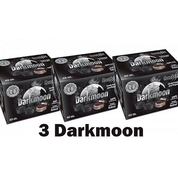 Kit 3x Carvão Premium CocoBeast Darkmoon Para Kaloud