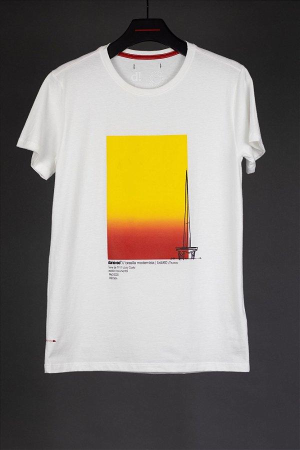 camiseta torre degradê