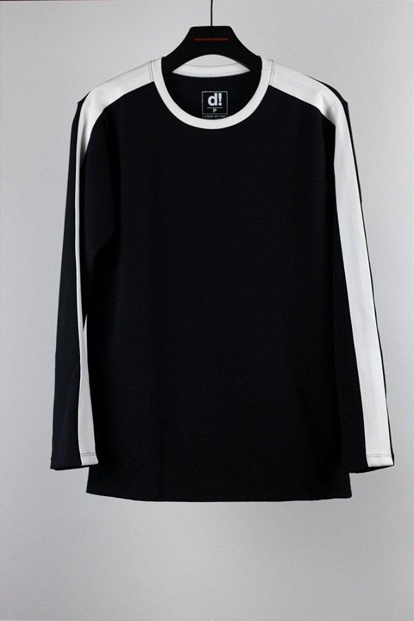 manga longa faixa preta
