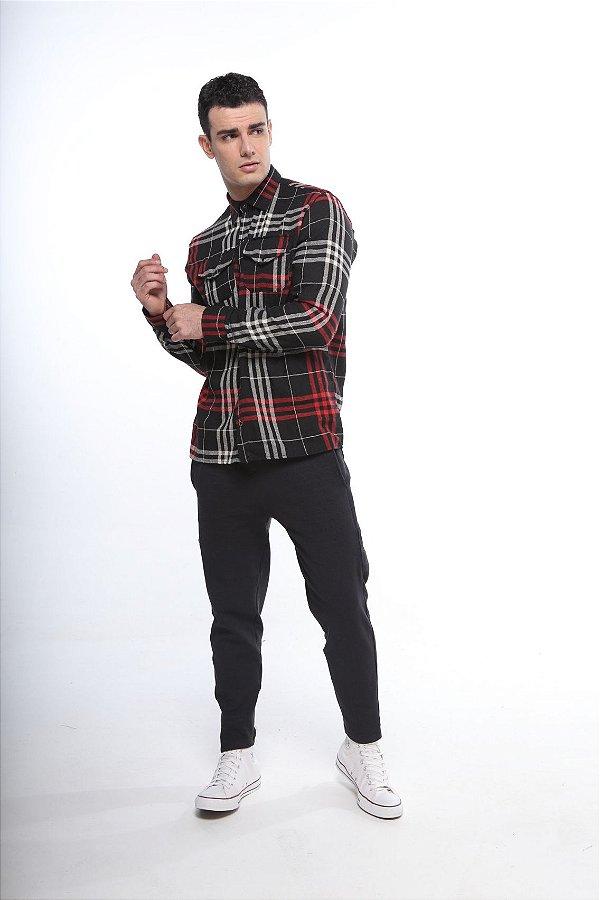 camisa xadrez madras