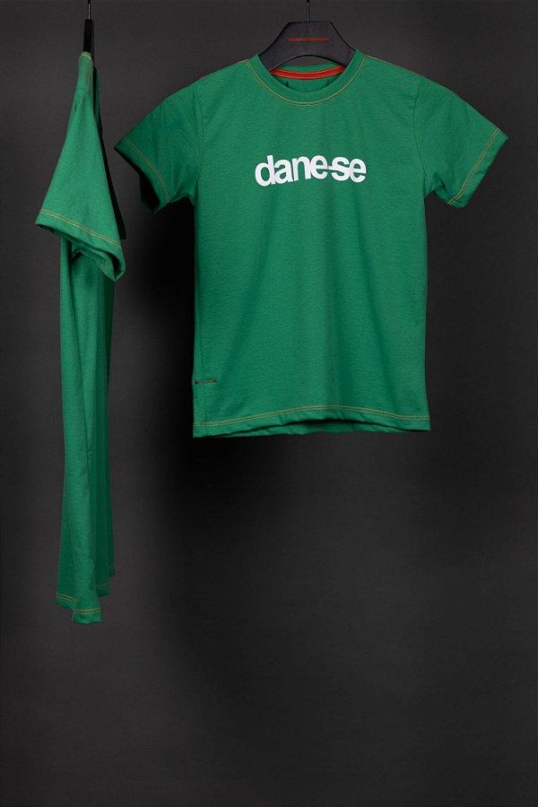 camiseta dane-se cláudio kids verde