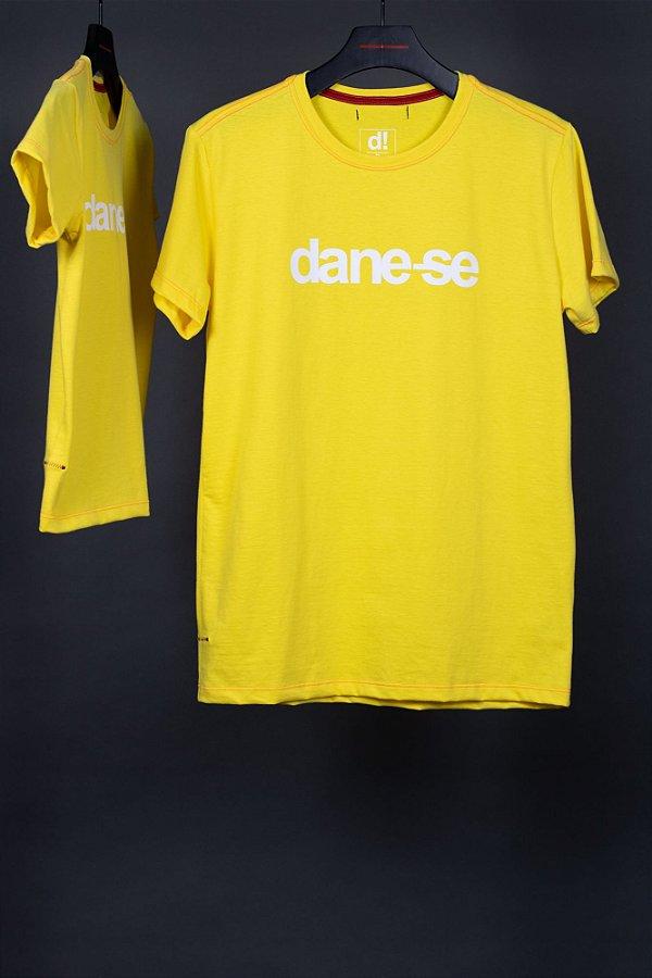 camiseta dane-se kauê amarelo