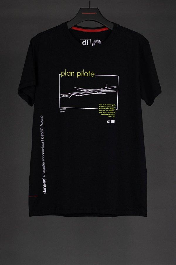 camiseta plan pilote preto
