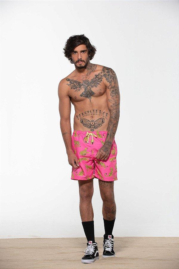 short onça rosa