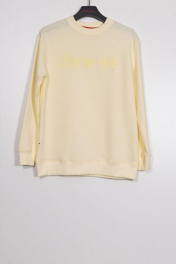 blusa moletom dane-se amarelo