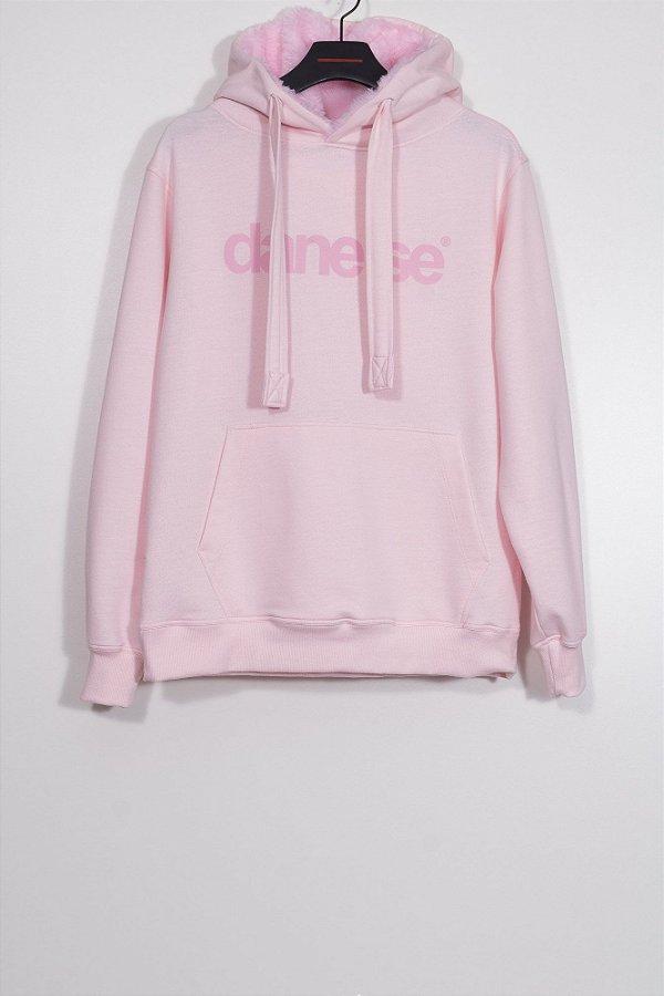 casaco moletom dane-se rosa
