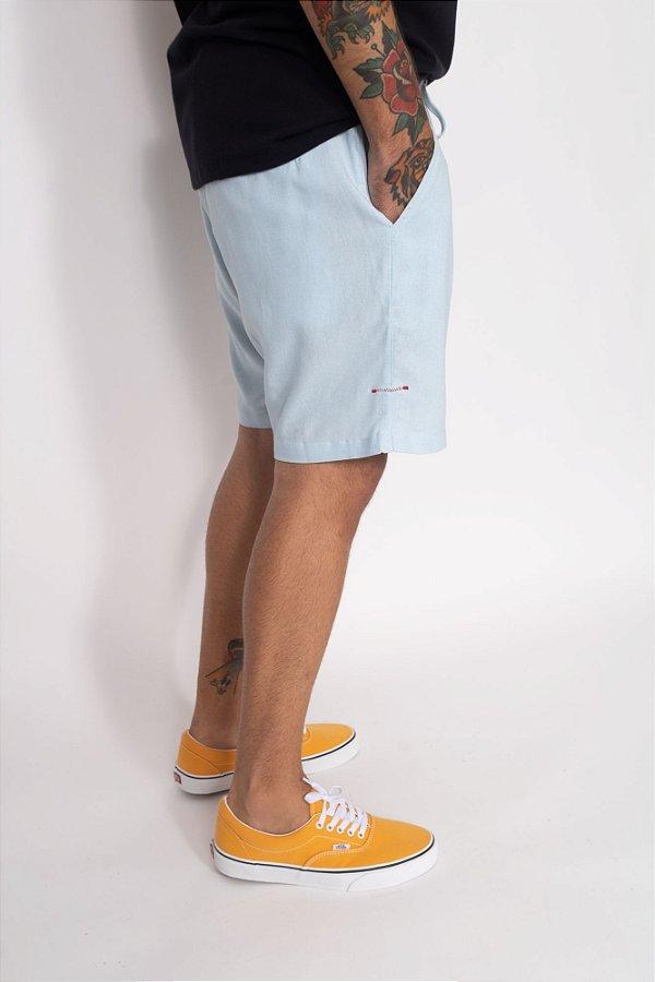 short linho blue