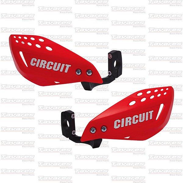 Prot de Mão Circuit Vector Vermelho