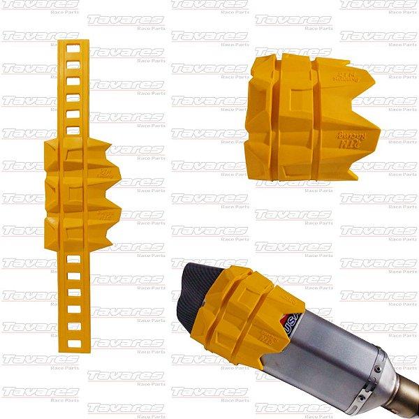 Protetor de Escapamento Mullfer Slider Amarelo