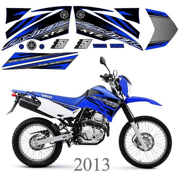 Faixa Lander 250 azul com preto grafismo 2013