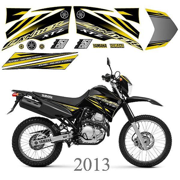 Faixa Lander 250 amarelo com preto grafismo 2013