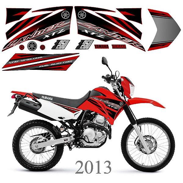 Faixa Lander 250 vermelha grafismo 2013