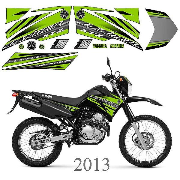 Faixa Lander 250 verde grafismo 2013