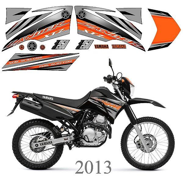 Faixa Lander 250 laranja com cinza grafismo 2013