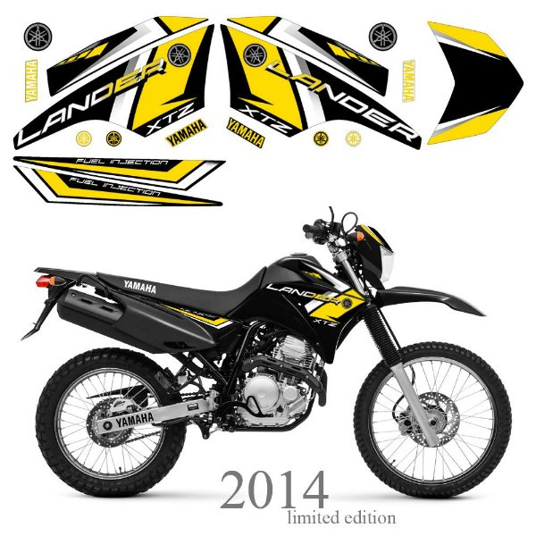 Faixa Lander 250 amarela grafismo 2014