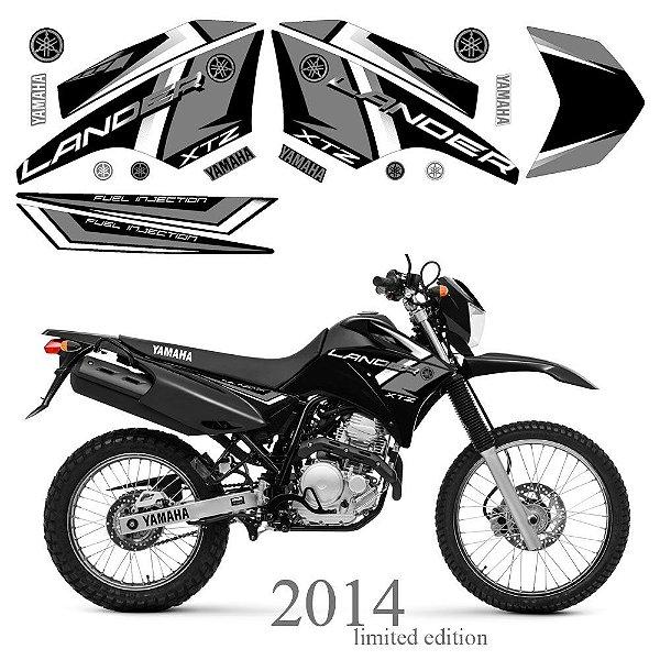 Faixa Lander 250 cinza com preto grafismo 2014