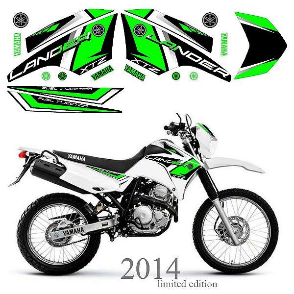 Faixa Lander 250 verde grafismo 2014